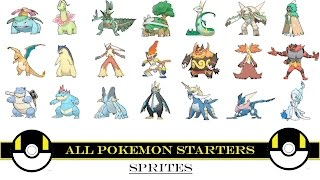 All Pokemon Starters (Animated Sprites)