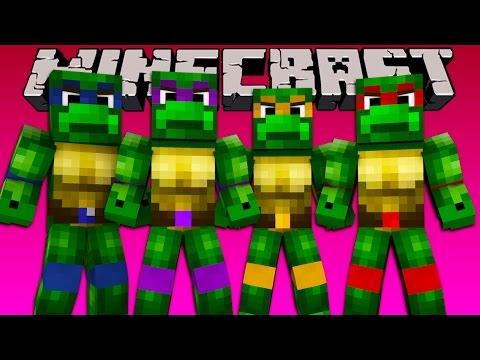 Minecraft - TEENAGE MUTANT NINJA TURTLE CHALLENGE!