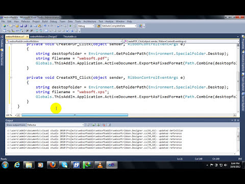 Create MSOffice AddIn by Visual studio 2010 with C#