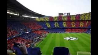 Barcelona anthem, camp nou, Barcelona - Bayern, May 2013