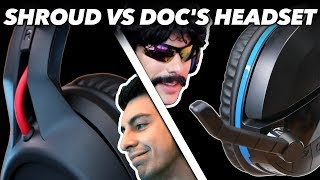 Shroud 39 S Headset Vs Dr Disrespect 39 S Headset We Try Gaming Headsets Used By Pro Gamers In Fortnite