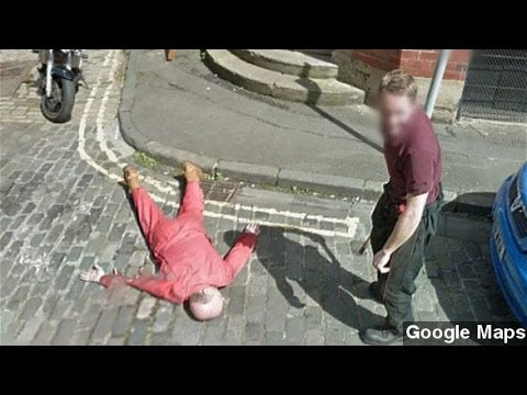 Man Stages Fake Murder In Front Of Google Street View Van