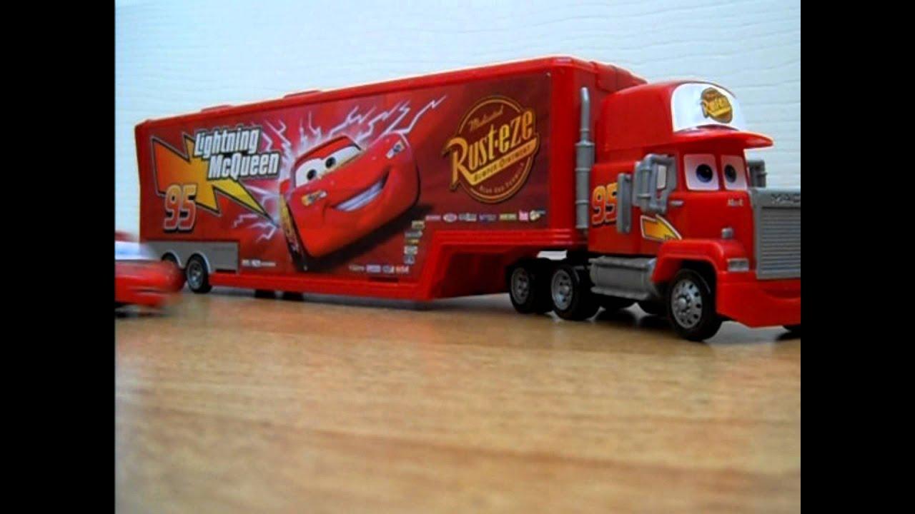 Lightning Mcqueen Mack Truck : Lightning mcqueen mack rc fun youtube