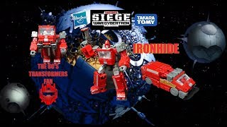 Transformers WFC Siege Deluxe Class Ironhide toy review