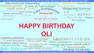 Oli   Languages Idiomas - Happy Birthday