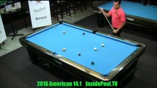 2016 American 14 1 Tournament Carlo Biado vs Mika Immonen