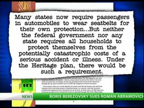 Hartmann: Proof - The Heritage Foundation Flip Flop on ObamaCare