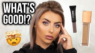 FULL FACE OF FIRST IMPRESSIONS! TESTING NEW MAKEUP + URBAN DECAY STAY NAKED REVIEW!