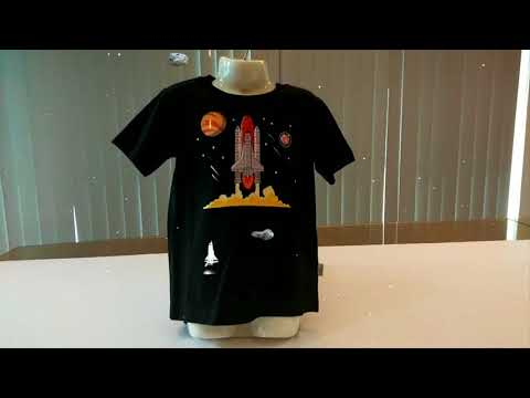 ROCKET T SHIRT IN 4D DESIGN