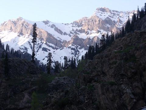 Snow Peaks Around Chandanwari, Pahalgam, Srinagar, Kashmir, India HD Video