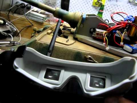 Foxtech video goggles used in a 1/8 R/C Armory King Tiger
