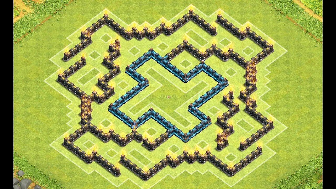 Clash of clans th8 damaze best anti giant healer farming base