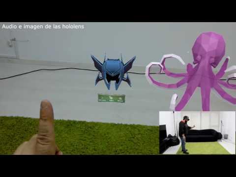 Probando las primeras Microsoft Hololens de España - Jugando con hologramas -