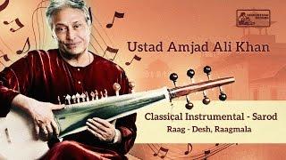 Amazing Sarod by Ustad Amjad Ali Khan   Hindusthani Classical Music   Desh Raga