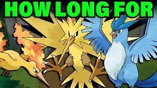 How Long To Get A WILD LEGENDARY BIRD In Pokemon Let's Go?