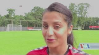 Afghan footballer Nadia Nadim plans to help Afghan team - VOA Ashna