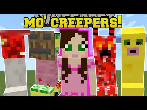 Minecraft: MO' CREEPERS!!! (15 NEW CRAZY CREEPERS!) Mod Showcase