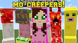 Minecraft: MO' CREEPERS!!! (15 NEW CRAZY CREEPERS!) Mod Showcase  from PopularMMOs