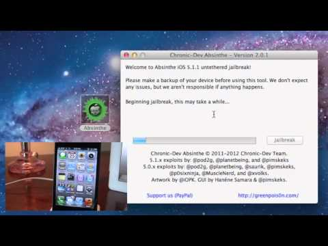 Jailbreak 5.1.1 Untethered - iPad 3.2.1. iPhone 4S.4.3GS. iPod Touch 4.3 - Absinthe 2.0