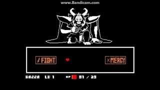Undertale: Pacifist Killing ASGORE at the End