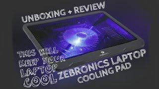 Unboxing of Zebronics Laptop Cooler | Review In Description