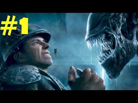 Aliens Colonial Marine Walkthrough Part 1 Gameplay Review [HD] PC/PS3/XBOX 360 NukemDukem
