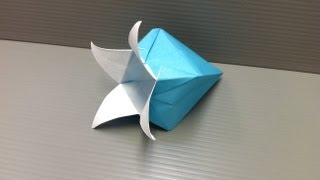 Daily Origami: 130 - Harebell Or Bluebell Flower