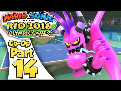 Mario & Sonic At The Rio 2016 Olympic Games - Co-Op Tournament Part 14 | Table Tennis!