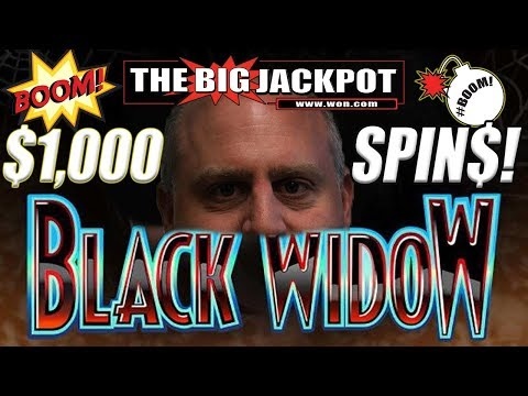 JACKPOTS GALORE! 😱$1000 Per Spin! 😱 HUGE HIGH LIMIT PLAY on Black Widow! 💥