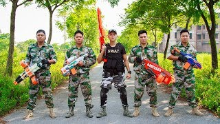 LTT Nerf War : Squad SEAL X Warriors Nerf Guns Fight Criminal Group Skills Mega Colt