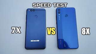 HONOR 7X VS HONOR 8X   SPEED TEST!!