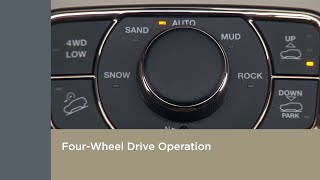 Four Wheel Drive Operation   How To   2019 Jeep Grand Cherokee