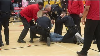 HUGE Fight Breaks Out At SHAKER VS. BRUSH Basketball Game | Backup Was Needed!! Halftime Gets Crazy!