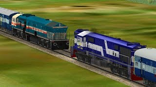 Extremely Rare Two trains on same Track | MSTS | Indian Railways Major Accident