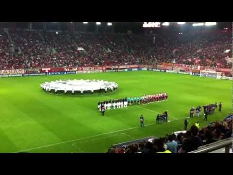 Olympiakos-montpellier-ymnos Champions League video