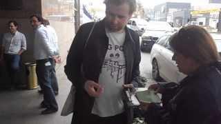 Bob Hardy (Franz Ferdinand) with fans in Uruguay