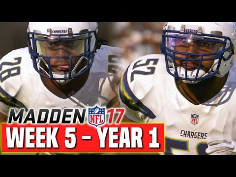 Madden 17 Chargers Franchise Year 1 - Week 5 @ Raiders - Ep.6