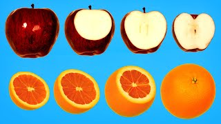 Hidden Patterns Inside Fruits and Vegetables