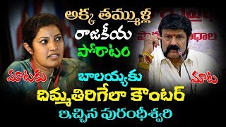 Purandeswari Warning To Balakrishna | Balakrishna React To Purandeswari Comments | Top Telugu Media