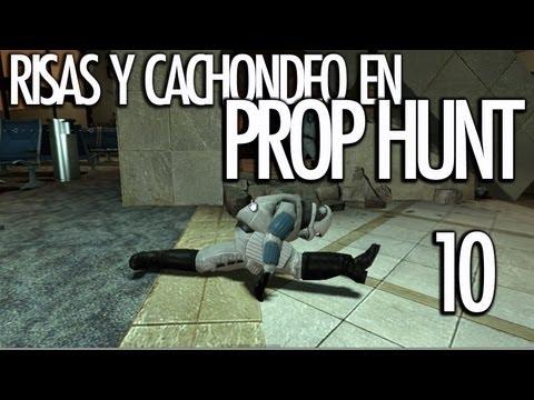 PROP HUNT 10: Risas y Cachondeo! HAGO EL SPAGAT!!! - [LuzuGames]