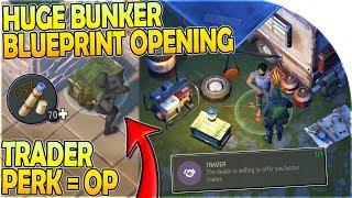 70+ BUNKER BLUEPRINTS OPENING + EPIC TRADER PERK = OP in Last Day on Earth Survival 1.11.3
