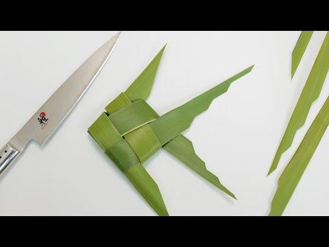Palm Leaf Fish Garnish