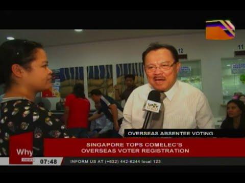 Singapore tops Comelec's overseas voters registration