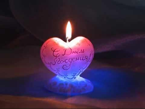 Свеча мигающая Хамелеон сердце, артикул 4375 (Омский Свечной) Candle Heart (Candle-Shop.Ru)
