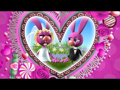 Мультяшное видео поздравление с днем свадьбы