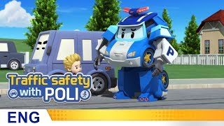 Trafficsafety with Poli | #20.Don't run between cars!