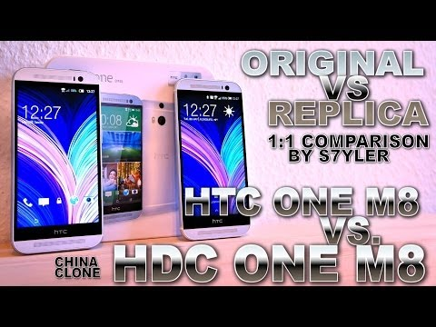 HDC One M8 vs. HTC One M8 (Clone/Original) [COMPARISON VIDEO] Design & Software / Size & Weight