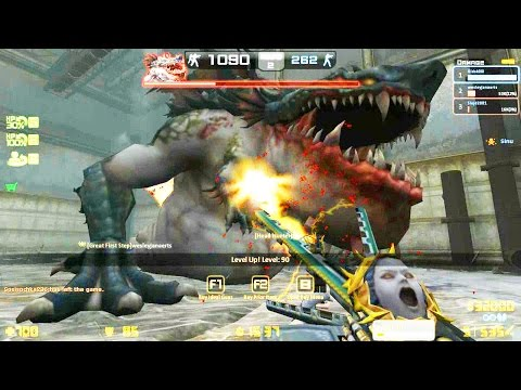 Counter-Strike Nexon: Zombies - Gluttony Zombie boss Fight online gameplay on Conspiracy map