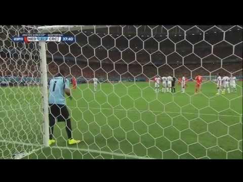 Netherlands Costa Rica 2014 World Cup Full Game ESPN Quarterfinal Quarterfinals Holland Dutch