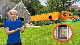 GIANT MONEY TRUCK DELIVERS $1MILLION DOLLARS to SHARER FAM HOUSE! (UNBREAKABLE BOX CHALLENGE REVEAL)